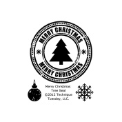 Technique Tuesday Clear Stamps 5.1cm x 6.4cm -Merry Christmas Tree Seal