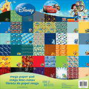 Disney Single-Sided Mega Paper Pad 30cm x 30cm 150/Pkg