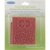 Soap Embossing Stamp Assortment 8/Pkg-Rectangle