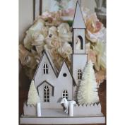 DIY Chipboard House Kit-Large Church, 17cm x 12cm X10.13cm