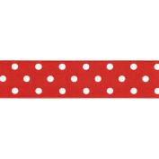 Offray Polka Dot Grosgrain Ribbon 2.5cm - 1.3cm X10yd