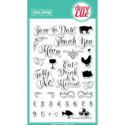 Avery Elle Clear Stamp Set 10cm x 15cm -Save The Date
