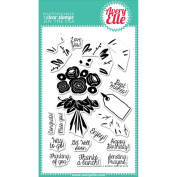 Avery Elle Clear Stamp Set 10cm x 15cm -Thanks A Bunch