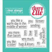 Avery Elle Clear Stamp Set 10cm x 7.6cm -Simply Said