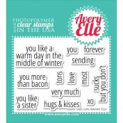 Avery Elle Clear Stamp Set 10cm x 7.6cm -Simply Said