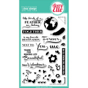Avery Elle Clear Stamp Set 10cm x 15cm -Love Notes