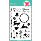Avery Elle Clear Stamp Set 10cm x 15cm -Happy Spring