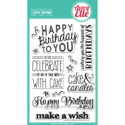 Avery Elle Clear Stamp Set 10cm x 15cm -Cake & Candles