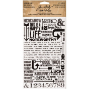 Life Quotes Remnant Rubs by Tim Holtz Idea-ology, 13cm x 18cm , 2 Sheets, Black/White, TH93120