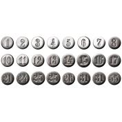 Idea-Ology Number Brads .13cm 24/Pkg-Antique Nickel
