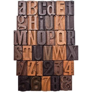 Idea-Ology Letterpress 2.5cm 35/Pkg-Wood