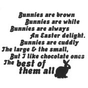 Verses Cling Mounted Rubber Stamp 11cm x 17cm -Chocolate Bunnies