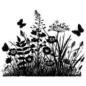 Crafty Individuals Unmounted Rubber Stamp 12cm x 18cm Pkg-Wild Flowers & Butterflies