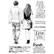 Crafty Individuals Unmounted Rubber Stamp 12cm x 18cm Pkg-Just Be My Friend