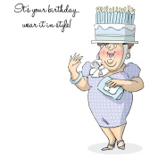 Art Impressions People Cling Rubber Stamp 18cm x 10cm -Birthday Hats