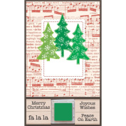 Hero Arts Rubber Stamps Card Marking Kit, Add Your Message with 3 Trees