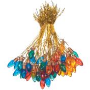 Plastic Christmas Bulbs 8mm 50/Pkg-Multicolor
