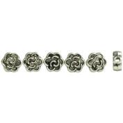 Jewellery Basics Metal Beads 7mm 39/Pkg-Silver Flower