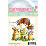 Candibean Unmounted Rubber Stamp 7.9cm x 7.3cm -Gardening Jessie