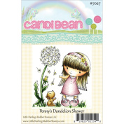 Candibean Unmounted Rubber Stamp 8.6cm x 8.1cm -Penny's Dandelion Shower
