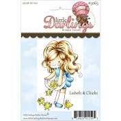 Little Darlings Unmounted Rubber Stamp 9.5cm x 6.2cm -Lisbeth & Chicks