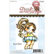 Cutie Pies Unmounted Rubber Stamp 8.3cm x 5.7cm -Beach Babe