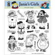Hot Off The Press Acrylic Stamps 20cm x 20cm Sheet-Janie's Girls