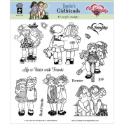 Hot Off The Press Acrylic Stamps 20cm x 20cm Sheet-Janie's Girlfriends