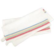Vintage Stripe Towel 46cm x 70cm -White W/Multi-Stripe