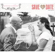 Save The Date Photo Overlays-10cm x 15cm & 13cm x 18cm , 5 Each