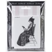 LaBlanche Silicone Stamp 7.6cm x 10cm -Reading The Paper