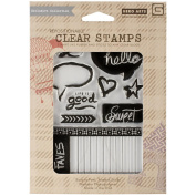 Basic Grey Highline Clear Stamps By Hero Arts-Life Is Good