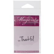 Magenta Cling Stamps 1.3cm x 3.8cm -Be Thankful