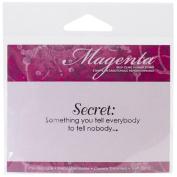 Magenta Cling Stamps 1.9cm x 6.4cm -Secret Definition