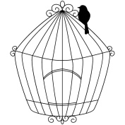 Magenta Cling Stamps 8.3cm x 7cm -Large Bird Cage