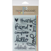 Paper Smooches 10cm x 15cm Clear Stamps-Bold Buzzwords