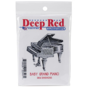 Deep Red Cling Stamp 5.1cm x 5.1cm -Piano, Baby Grand