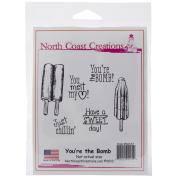 North Coast Creations Cling Rubber Stamp 13cm x 17cm -You're The Bomb!