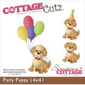 CottageCutz Die 10cm x 10cm -Party Puppy