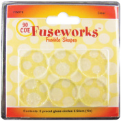 Fusible Clear Glass Shapes 90COE Clear Rounds