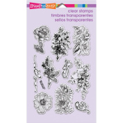 Stampendous Perfectly Clear Stamps 10cm x 15cm Sheet-Frantage Flowers