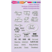 Stampendous Perfectly Clear Stamps 10cm x 15cm Sheet-Regal Bird Quotes