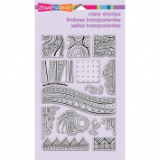 Stampendous Perfectly Clear Stamps 10cm x 15cm Sheet-Penpattern Tile