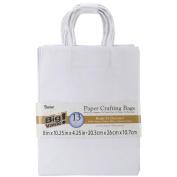 Paper Bags 11cm x 20cm X10.60cm 13/Pkg-White