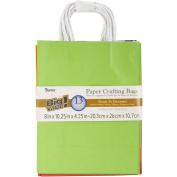 Paper Bags 11cm x 20cm X10.60cm 13/Pkg-Assorted Primary