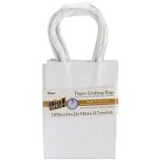 Paper Bags 5.1cm x 9.8cm X5.320cm 5/Pkg-White
