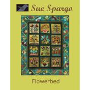 Sue Spargo Books-Flowerbed Wall Quilt 80cm x 100cm