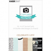 Captured Moments Double-Sided Cards 15cm x 10cm 30/Pkg-Celebrate Life!