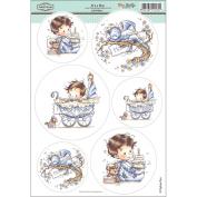 Wee Stamps Topper Sheet 21cm x 31cm -It's A Boy