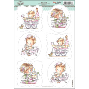 Wee Stamps Topper Sheet 21cm x 31cm -It's A Girl